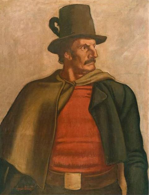 Josef Speckbacher, Gemälde von Albin Egger-Lienz