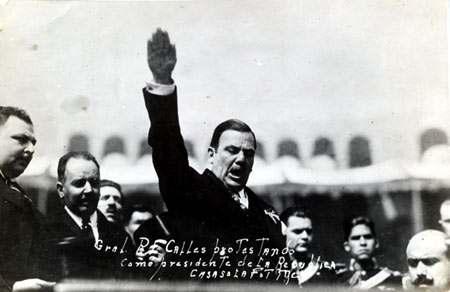 Foto von mexikanische Präsident Plutarco Elías Calles.