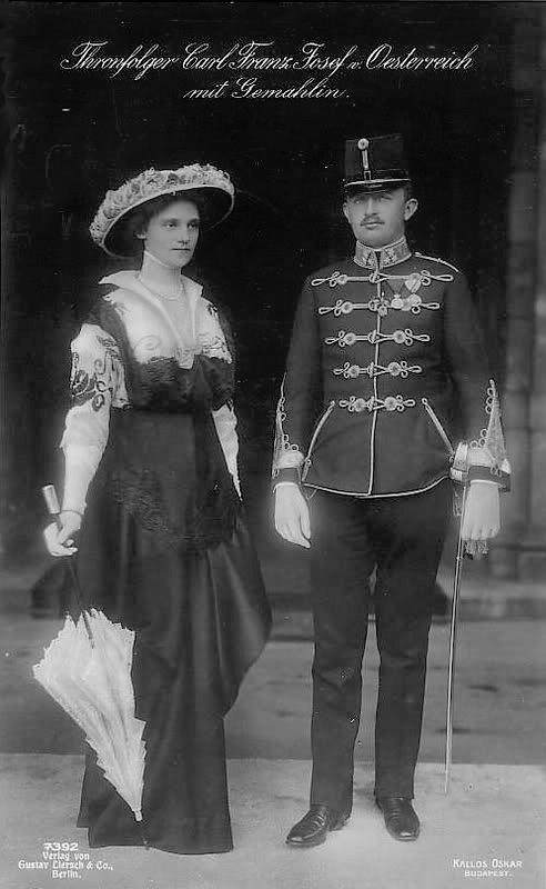 Kaiser Karl I. von Österreich und Zita von Bourbon-Parma, 1914.