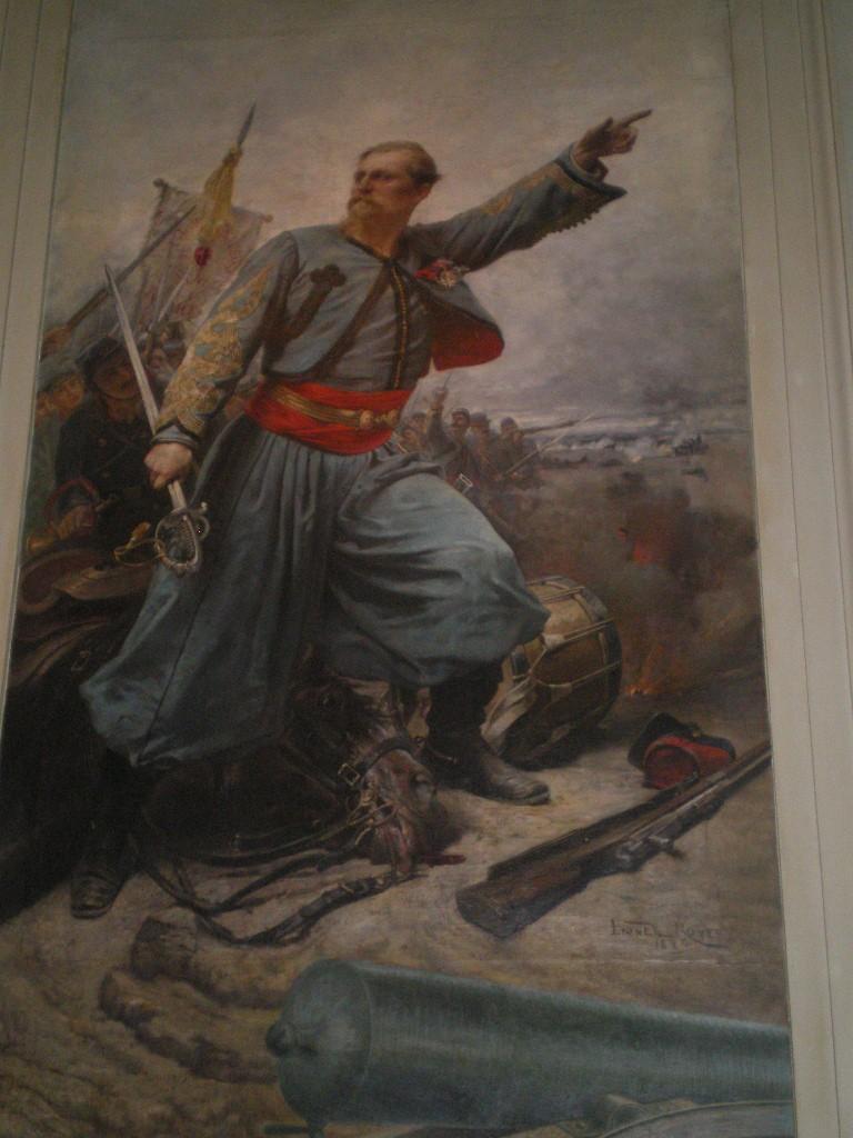 """""""Geht deshalb, geliebte Söhne und Töchter, mit Mut und demütigem Stolz der Zukunft entgegen."""" Gemälde von ein Päpstlichen Zouave."""