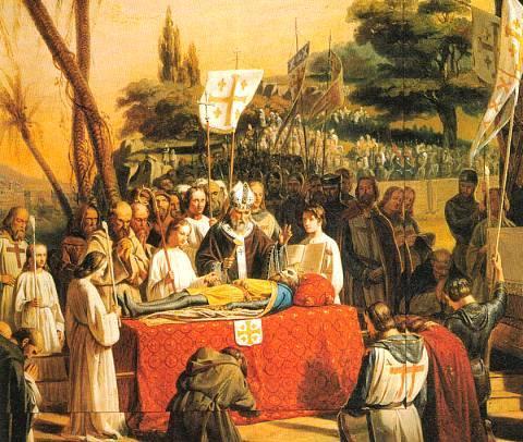 Death of Godfrey of Bouillon in Jerusalem