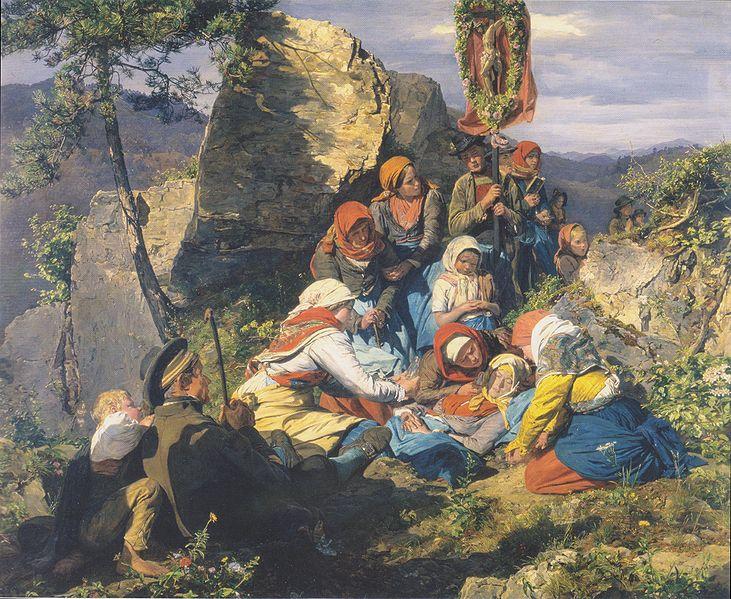 Die kranke Pilgerin von Ferdinand Georg Waldmüller