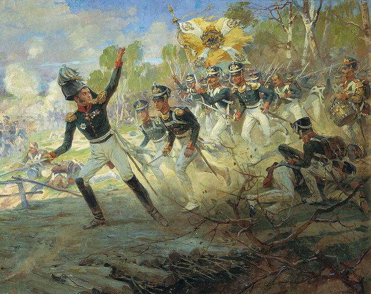 Euch selbst, geliebte Söhne und Töchter, werden Gelegenheiten dazu nicht fehlen, den anderen voranzugehen und sie durch Eure guten Beispiele nachzuziehen... Der Mut des General Rajewski von Mykola Samokysh.
