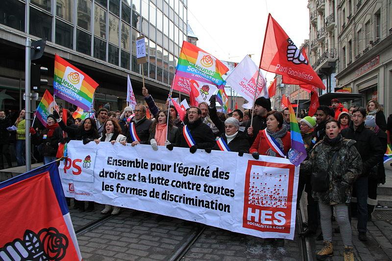 Straßburg Demonstration für Homosexuell Ehe 19. Januar 2013. Foto von Ctruongngoc.
