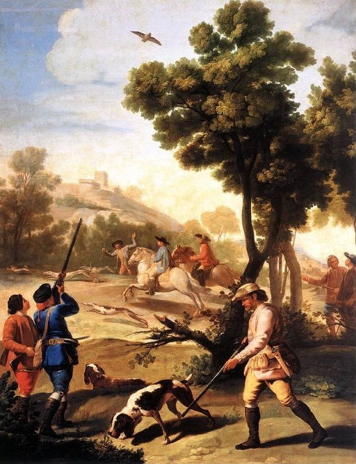 Die Wachteln schießen von Francisco de Goya Y Lucientes